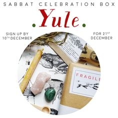 YULE Sabbat Witch Box Kit Winter Solstice Celebration supplies subscription uk witchy gift mystery guide vegan festival ships 14th December Celebration Box, Halloween Celebration, Sabbats, Halloween Signs, Winter Solstice, Subscription Boxes, Samhain, Yule, Vintage Items