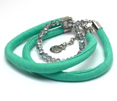Fabric bracelet Fabric Necklace use how you want turquoise bracelet, string bracelet, cord bracelet, fabric jewelry, braided bracelet by AndreaMacsarJewelry on Etsy Fabric Bracelets, Fabric Necklace, Braided Bracelets, Cord Bracelets, Fabric Jewelry, Textiles, Chain Pendants, Turquoise Bracelet, Braids