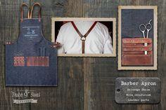 Barber Apron Selvedge Denim handmade by DukeAndSonsLeather on Etsy