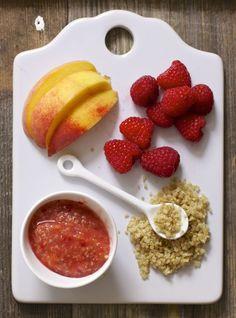 Peach + Raspberry + Quinoa Chunky Puree — Baby FoodE | organic baby food recipes to inspire adventurous eating