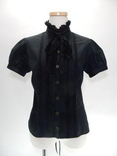 Victorian maiden/トップス【condition】B【size】着丈・length 51cm 身幅・bast 42cm× 2ウエスト・waist 35.5cm×2【material】表地…