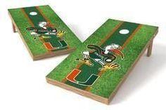 Miami Hurricanes Single Cornhole Board - Field