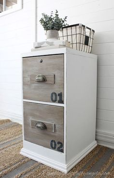 Dated File Cabinet Gets An Industrial Makeover