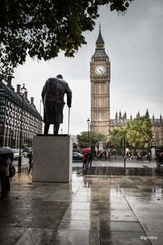 Churchill and Westminster. #london #westminster #theelizabethtower #bigben #travelphotography #Churchill #nikon #d5500 #nikonphotography