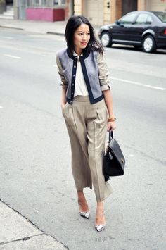 Really like the more grown-up boxy jacket with the culottes.