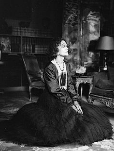 Coco Chanel in her apartment at rue Cambon, Paris, 1950