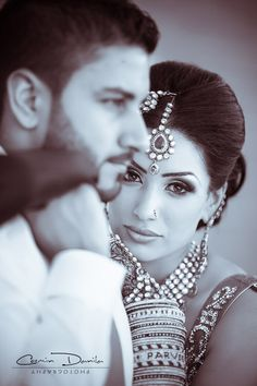 Desi Weddings!! A beautiful Indian bride and her groom!! Aline ♥