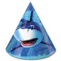 Shark Splash Birthday Hat 8ct
