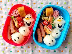 アナと雪の女王よりオラフ弁当 by kazzzzz at 2014-4-18