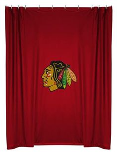 Chicago Blackhawks Shower Curtain  So this exsists...