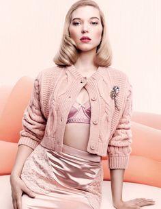 Léa Seydoux by Craig McDean for Vogue UK November 2015 | http://www.theglampepper.com/2015/11/26/vogue-uk-november-2015-model-lea-seydoux-photographer-craig-mcdean-fashion-editor-kate-phelan-hair-sam-mcknight-make-up-val-garland/