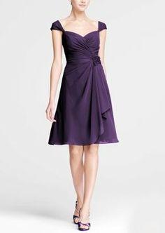 David's Bridal Lapis (Purple) F15406 Dress $80