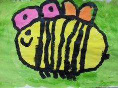 Leuke lesbeschrijving over schilderen bijen met kleuters