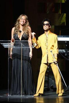 Prince with Mariah Carey