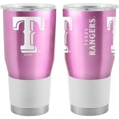 Boelter Brands Texas Rangers Ultra Pink 30oz Tumbler (Pink, Size 30 Oz) - Pro Licensed Product, Pro Licensed Novelty at Academy Sports