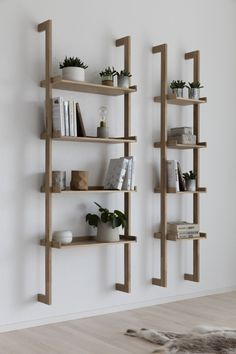 Regal Braun ladder rack, wall shelf - Decoration For Home Shelf Decor Bedroom, Shelves, Bookshelf Decor, Living Room Diy, Home Decor, Bookshelves In Living Room, Scandinavian Bookshelves, Apartment Decor, Shelf Decor