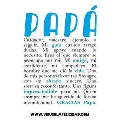 Feliz día papá www.virusdlafelicidad.com #diadelpadre #diadelpare #papa #papi #padre #pare #virusdlafelicidad #felizdia