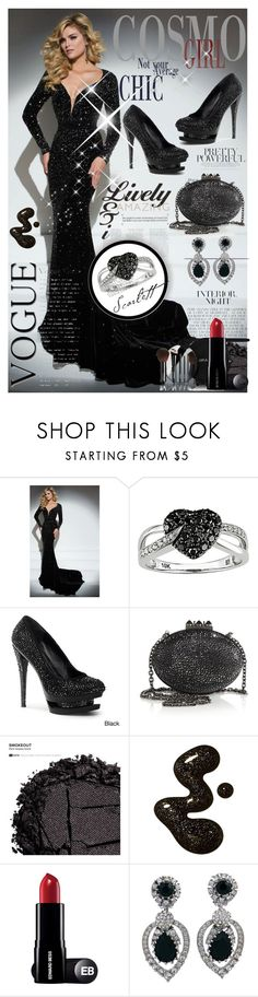 """""""Black chic!"""" by gianna-pellegrini ❤ liked on Polyvore featuring Tony Bowls, Ice, Pleaser Day & Night, Christian Louboutin, Urban Decay, Chanel and Ciner"""