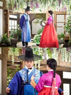 Kim Tae Hee (in Hee Bin yet modern #Hanbok) and Yoo Ah Jang Ok-jeong, Live in Love / 2013 #Kdrama #CostumeDrama - <3 Measure your love without knowing that it is love <3