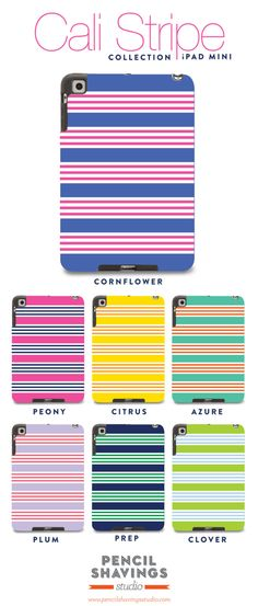 Cali Stripe collection. Hard Shell Case for iPad 2 3 4 & iPad Mini. $65.00