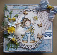 Rose Garden Tilda by Magnolia stamps, card