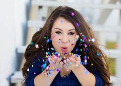 Alexandra Feild Photography | stylish & modern senior portraits, confetti blow
