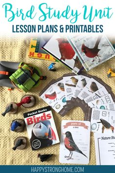Bird Study Unit ~ Lesson Plans & Printables for Homeschool Study backyard birds with these lesson plans & printables for a homeschool bird study unit! Great Backyard Bird Count, Backyard Birds, Birds For Kids, Bird Identification, Bird Theme, Homeschool Curriculum, Homeschooling Resources, Art Lessons, Activities For Kids