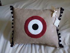 Handmade Pillow Evil Eye