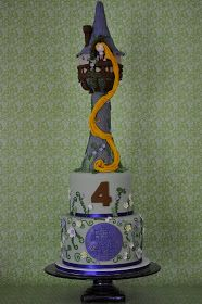 blue cupcake: Rapunzel Cake