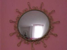 vintage French mirror Starburst flower wall glass by thefrenchie
