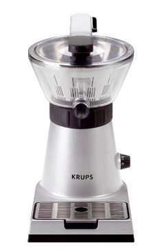 KRUPS ZX7000 Stainless Steel Electric Citrus Press with Manual and Automatic Settings Silver