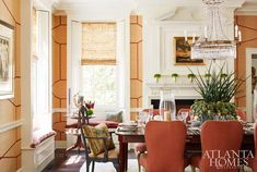 Atlanta Homes & Lifestyles' 2017 Southeastern Designer Showhouse - The Glam Pad Note: window casings Heart Pine Flooring, Pine Floors, Central Park Apartments, Atlanta Homes, House Tours, Interior Design, Interior Ideas, Dining Rooms, Home Decor