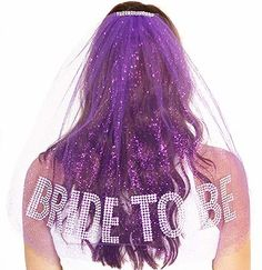 Bachelorette Party Veil : Purple Bachelorette Veil Bride to be Gem Rhinestone Veil Bachelorette Party Supplies USD) by ABridalShop Bachelorette Veil, Bachelorette Party Supplies, Bachelorette Ideas, Bachlorette Party, Bride Shirt, Bride Veil, Wedding Trends, Wedding Ideas, Wedding Stuff