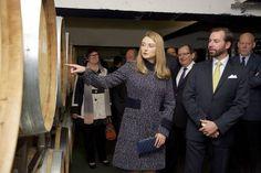 Princess Stephanie and Prince Guillaume visit Bernard Massard Winery