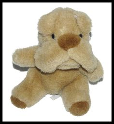 "Hugfun Tan Brown Dog Bulldog Boxer Plush Lovey 6"" #Hugfun"