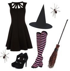 Cute Witch Halloween Costume Idea...maybe I'll keep it simple this year...MAYBE