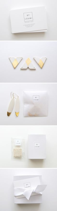 Simple and elegant. Packaging from By Loumi jewelry