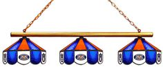Auburn Tigers Stained Glass 3-Light Game Table Light