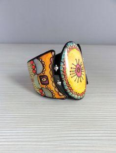 Bracelet en pâte polymère. Fil élastique. Pièce unique, fait-main.