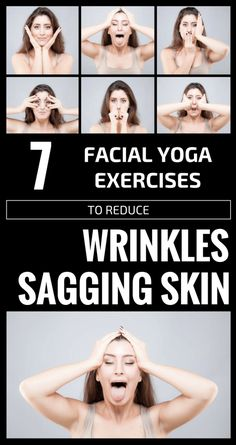 Sagging Skin Remedies 7 Facial Yoga Exercises To Reduce Wrinkles And Sagging Skin - There is no scientific fact that facial yoga will reduce wrinkles and sagging skin, but many people Facial Yoga Exercises, Neck Exercises, Natural Skin Tightening, Skin Tightening Mask, Fitness Del Yoga, Neck Wrinkles, Face Yoga, Face Massage, Face Facial