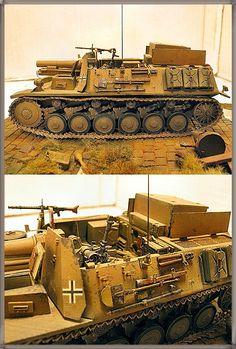 Sturmpanzer II (Bison II) - 708 ou 709ème compagnie lourde d'infanterie. Ces deux compagnies ont été assignées à la 90ème et à la 164ème division légère. Libye 1942_02