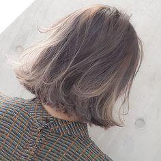 ......my works...... お客様〜 #shachu#hair#color#ヘア#ボブ#ヘアカラー#グラデーションカラー#ハイライト#グレージュ