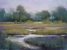 What to do with a New Box of Pastels, painting by artist Karen Margulis