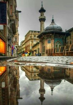 Reflections, Istanbul. Istanbul is a major city in Turkey that straddles Europe and Asia across the Bosphorus Strait. Its Old City reflects cultural influences of the many empires that once ruled here. (V)