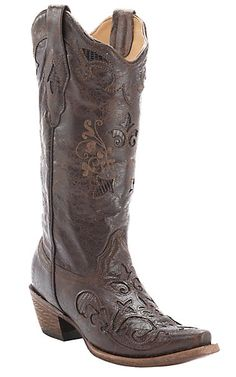 d28dc0c4a Corral Ladies Vintage Chocolate w  Chocolate Lizard Inlay Snip Toe Western  Boots. Corral BootsCute BootsWestern BootsCrazy ShoesWesternsVintage ...