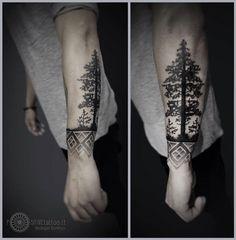 Pine tree from Positive Tattoo, Vilnius