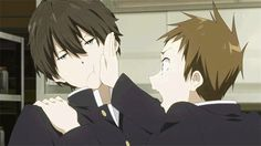 """Or did Chitanda-san infect you with something?"""