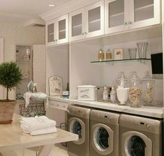 Classic Chic Home: Home Organization: Stylish Laundry Rooms
