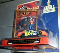 JEFF GORDON TAKES CHAMPIONSHIP 1997 NASCAR DIECAST by NASCAR. $12.00. 1998 - Kenner / Hasbro - Winner's Circle - NASCAR - Jeff Gordon #24 Du Pont Chevrolet Monte Carlo - Special 1997 : Championship Collectible - 1:64 Scale - Atlanta Motor Speedway - Card has bend & crease upper right corner - Still Sealed and never touched - New - Collectible - Limited Edition