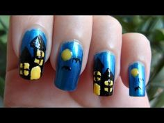 Spooky House For Halloween Nail Art Tutorial